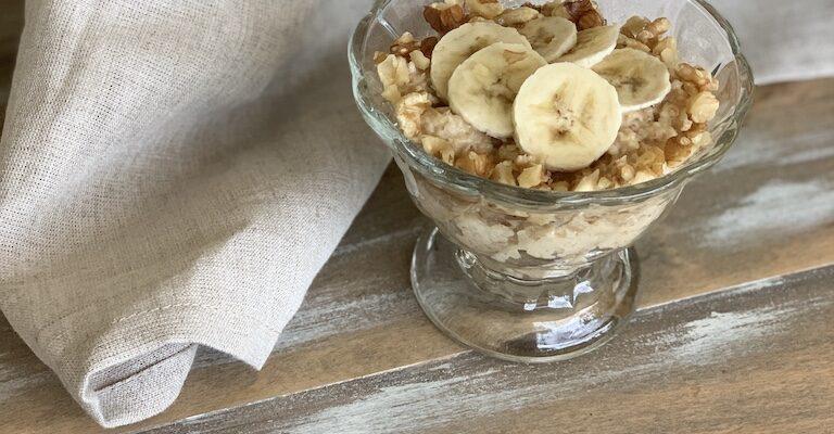 Banana Nut Healthy Oatmeal