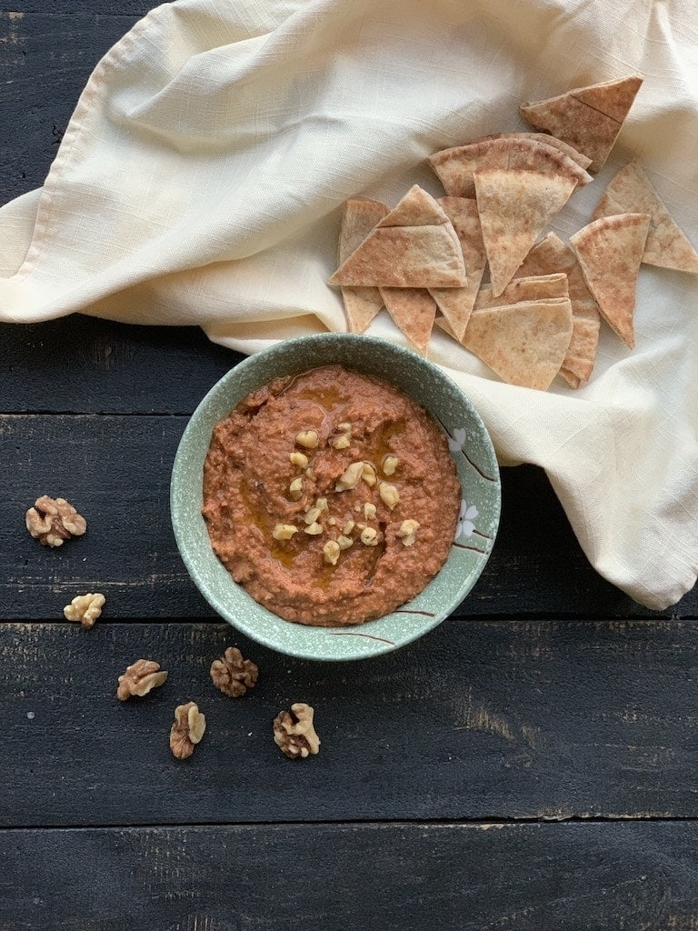 I'm finally sharing the red pepper dip recipe I fell in love with while I was in Jordan. Such a simple recipe, but so full of flavor and nutrition!