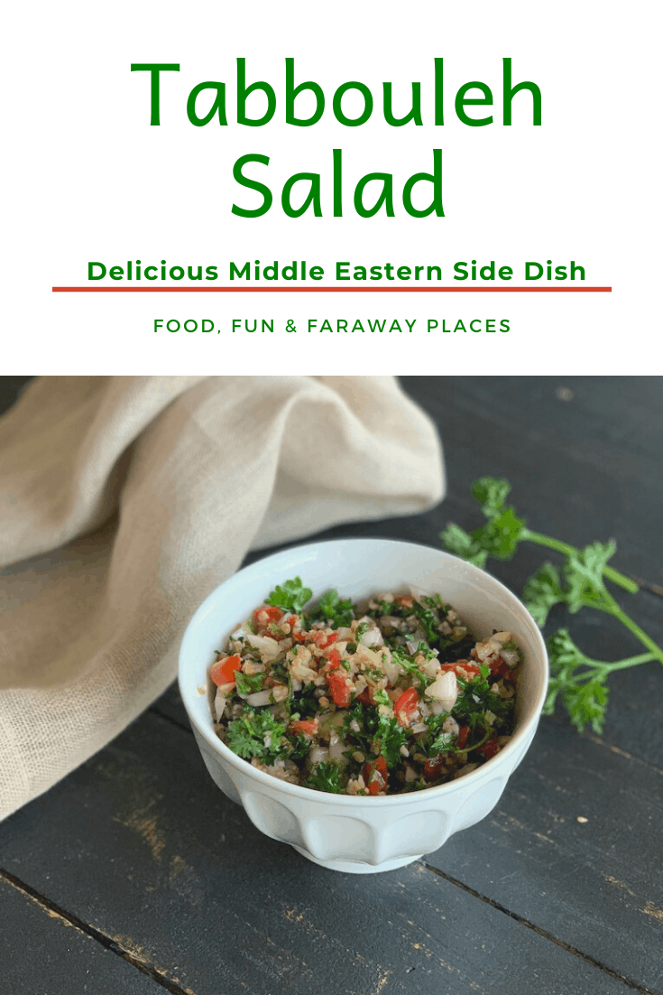 Tabbouleh was one of the best things I ate when I visited Jordan. It's a healthy dish with incredibly fresh flavor, and it goes with so many main courses.