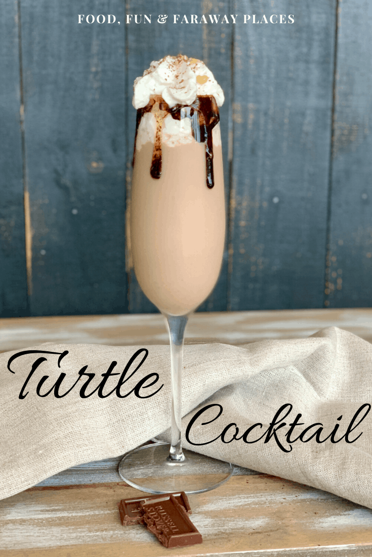 If you're wondering how to make a turtle cocktail, I've got you covered. We've taken all the deliciousness that's in a chocolate, caramel, and pecan turtle cluster and put it in an adult beverage.