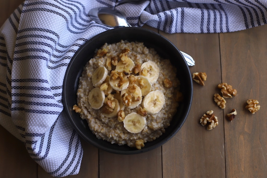 banana nut oatmeal