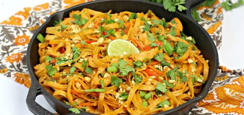 Chicken Pad Thai Noodle Recipe