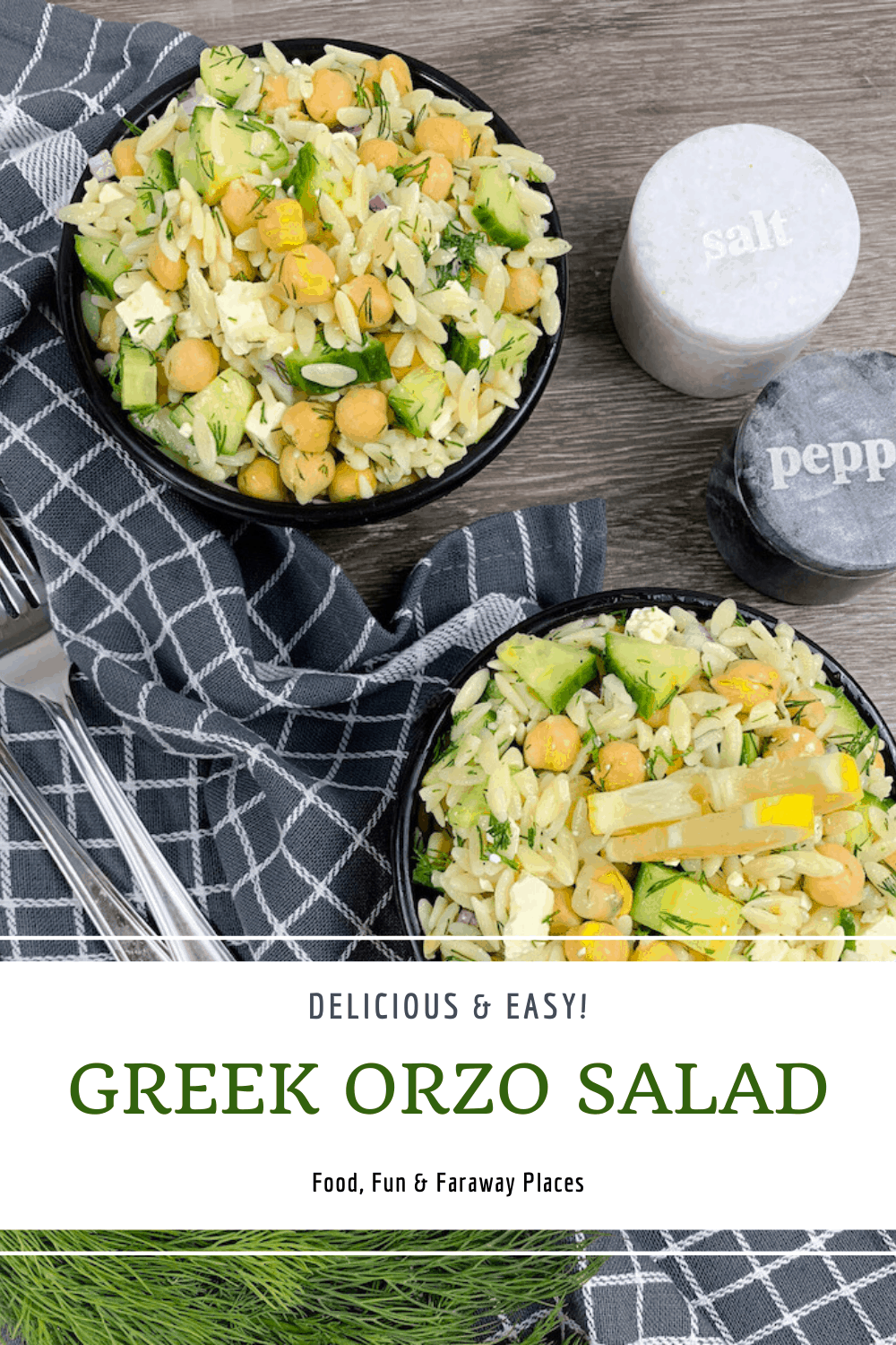 This Greek orzo salad is delicious and super easy to prepare. When you're wondering what to serve with a steak, baked chicken, or seafood, this is the perfect side dish.