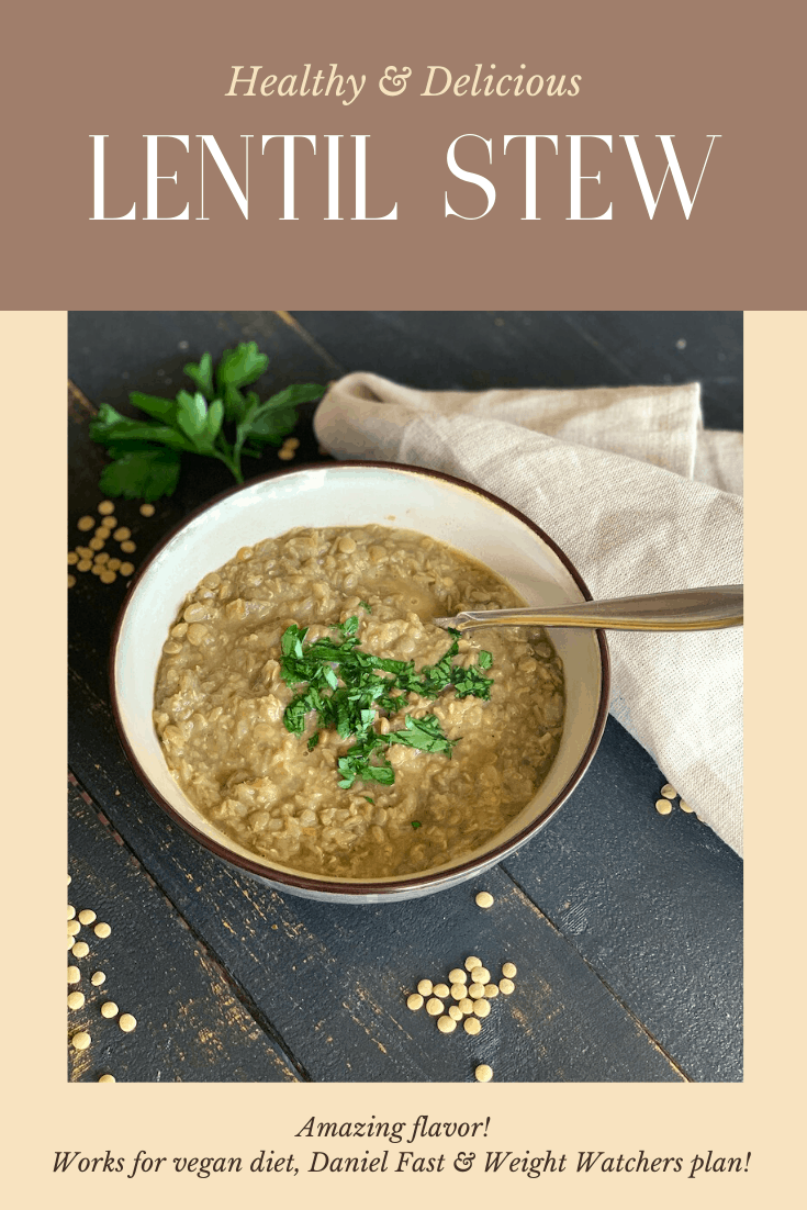 Lentil stew is so good for you, and when it's this delicious, you just can't do better for comfort food.