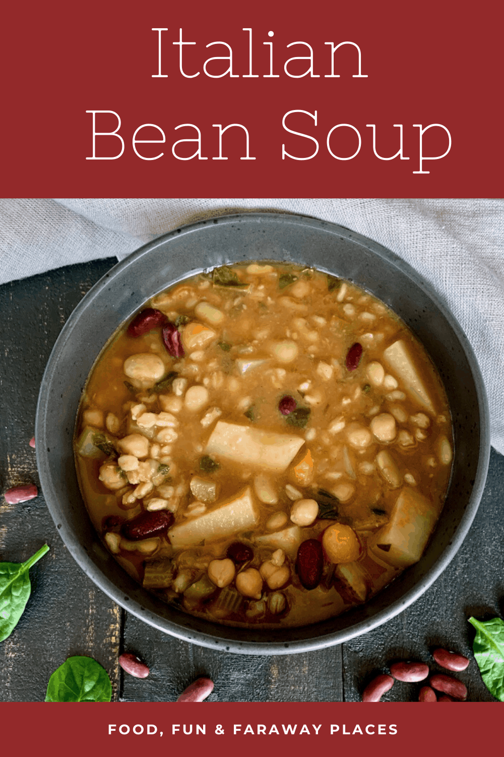 This Italian Bean soup can be made mostly with items you probably have in your pantry.