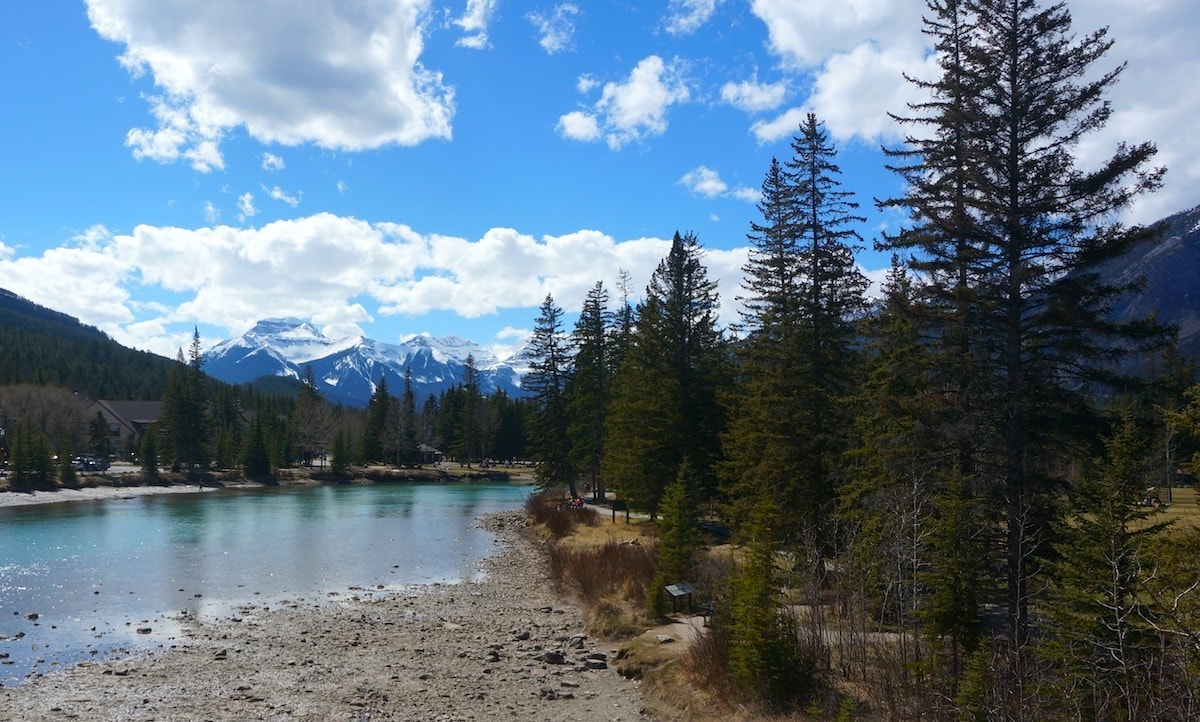 Canadian Rockies by train view