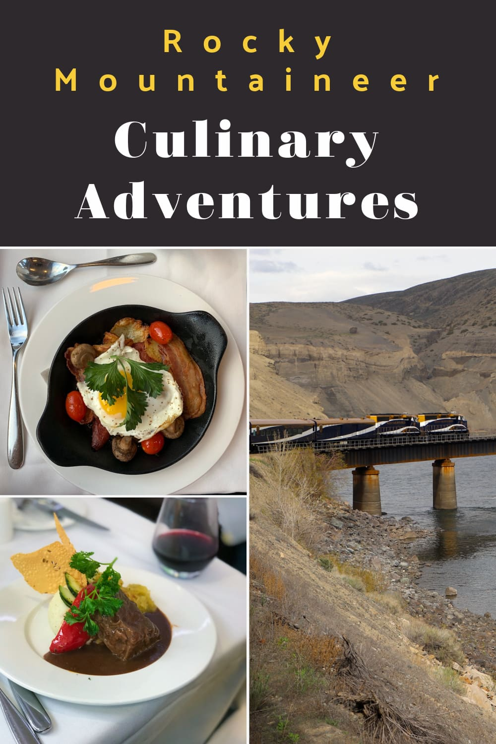 Rocky Mountaineer Canada Culinary Adventures are always exceptional.