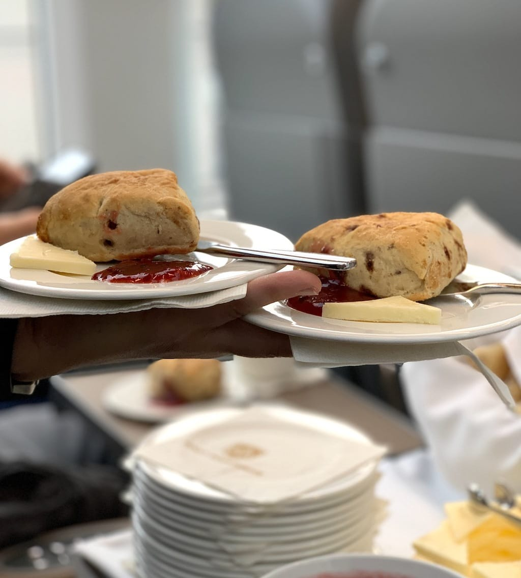 Canadian Rockies by Train serving scones