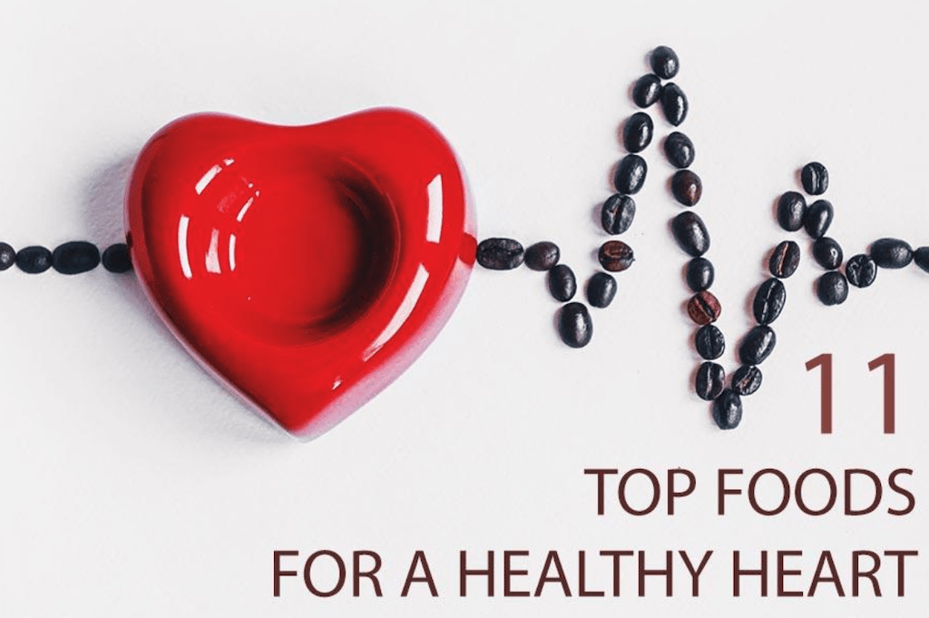 foods for a healthy heart sign