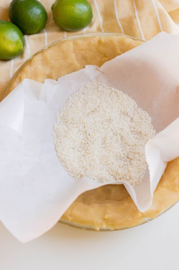pie crust with rice for weight