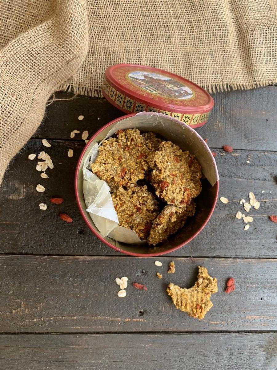 oatmeal goji cookies