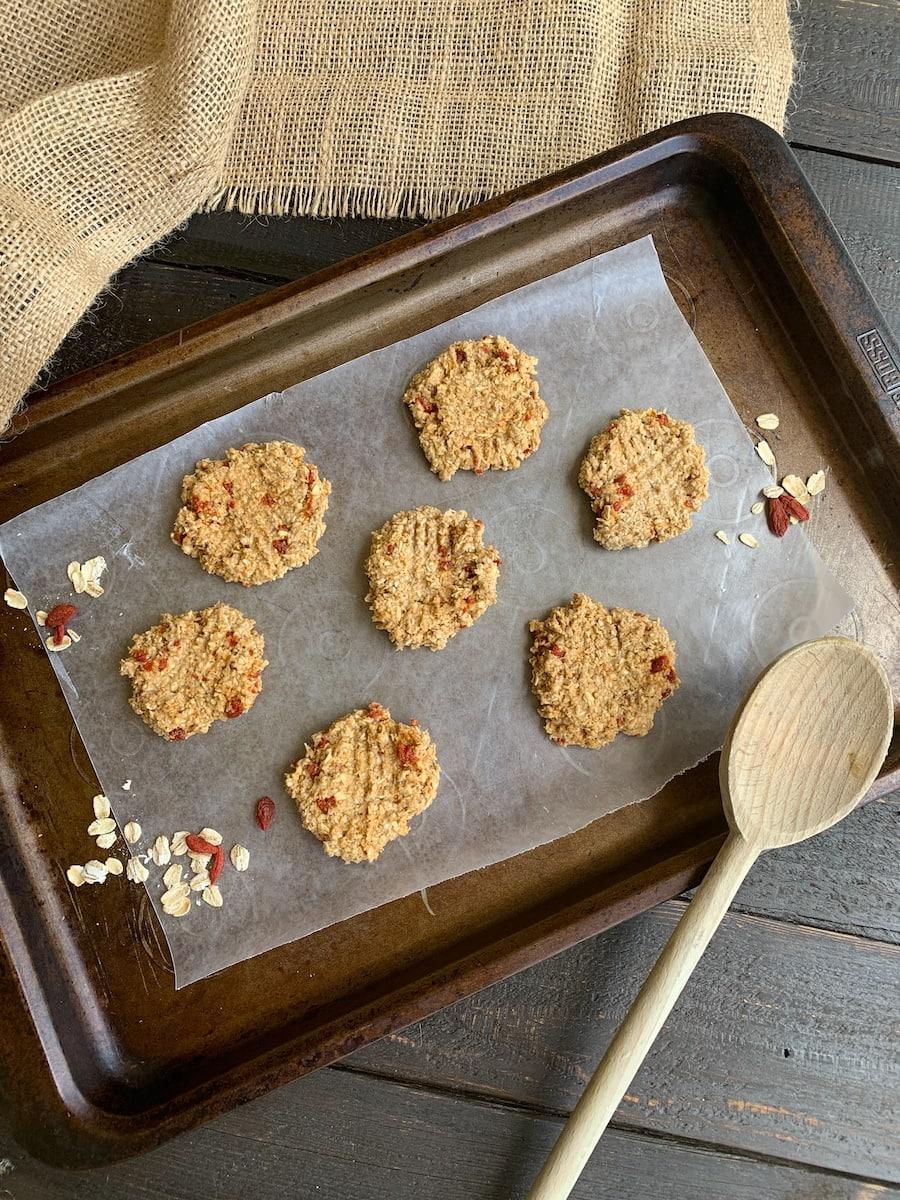 weight watchers snack cookies on cookie sheet