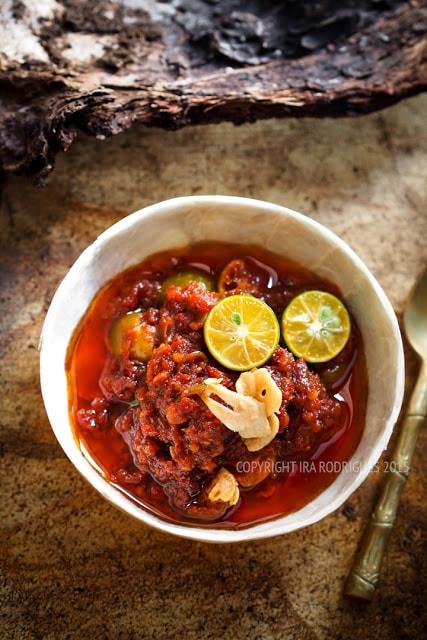 Bowl of sambal, a traditional Indonesian dessert.