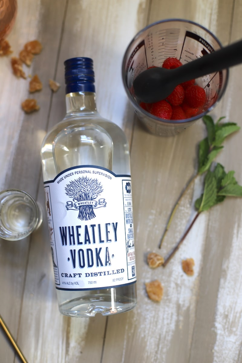 raspberry Moscow Mule cocktail Wheatley vodka