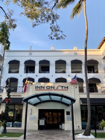 front of inn on fifth luxury hotel Naples florida