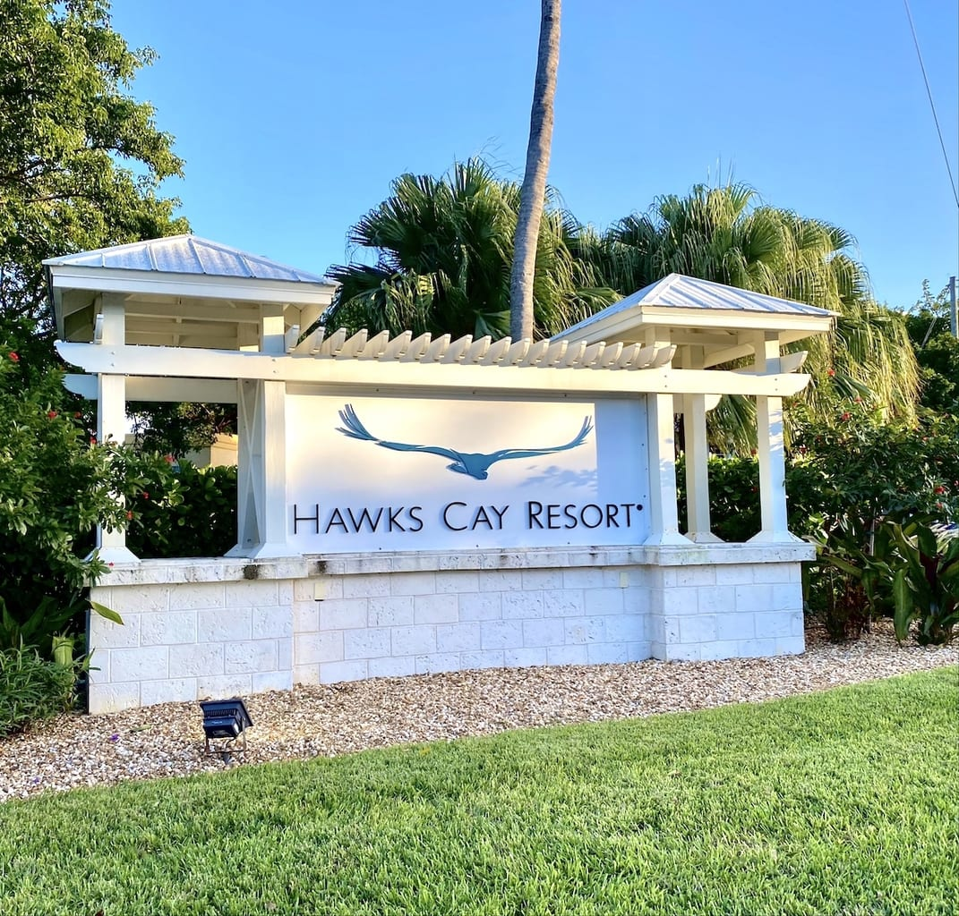 Hawks cay sign