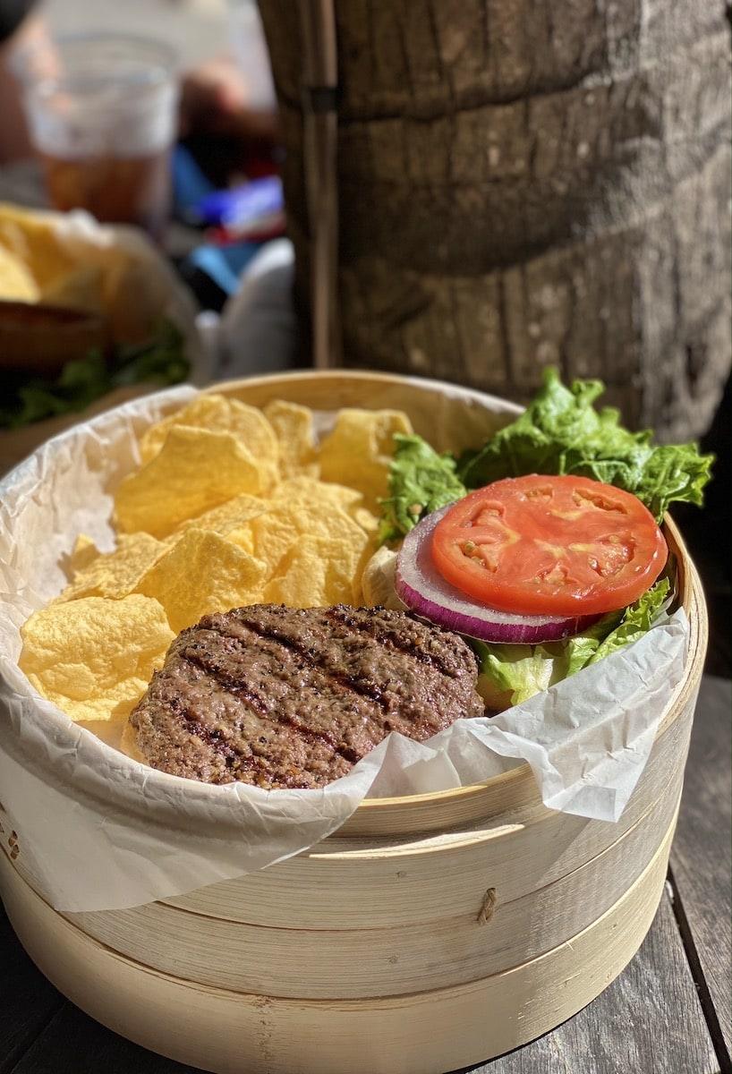 Tiki Grill burger