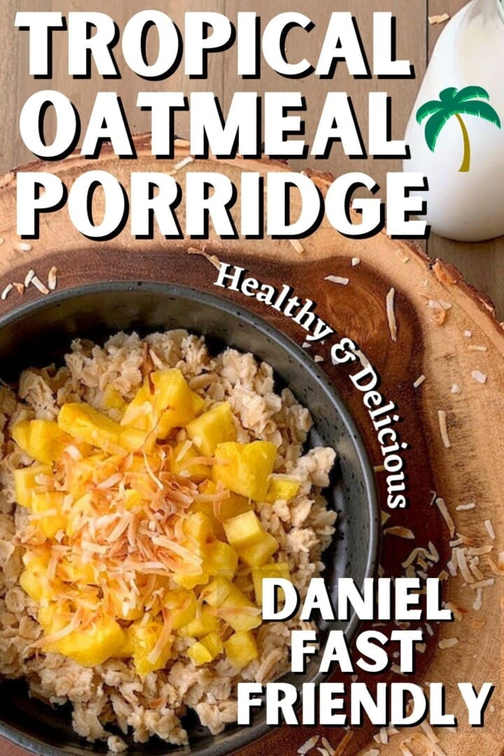 oatmeal porridge with pineapple and coconut