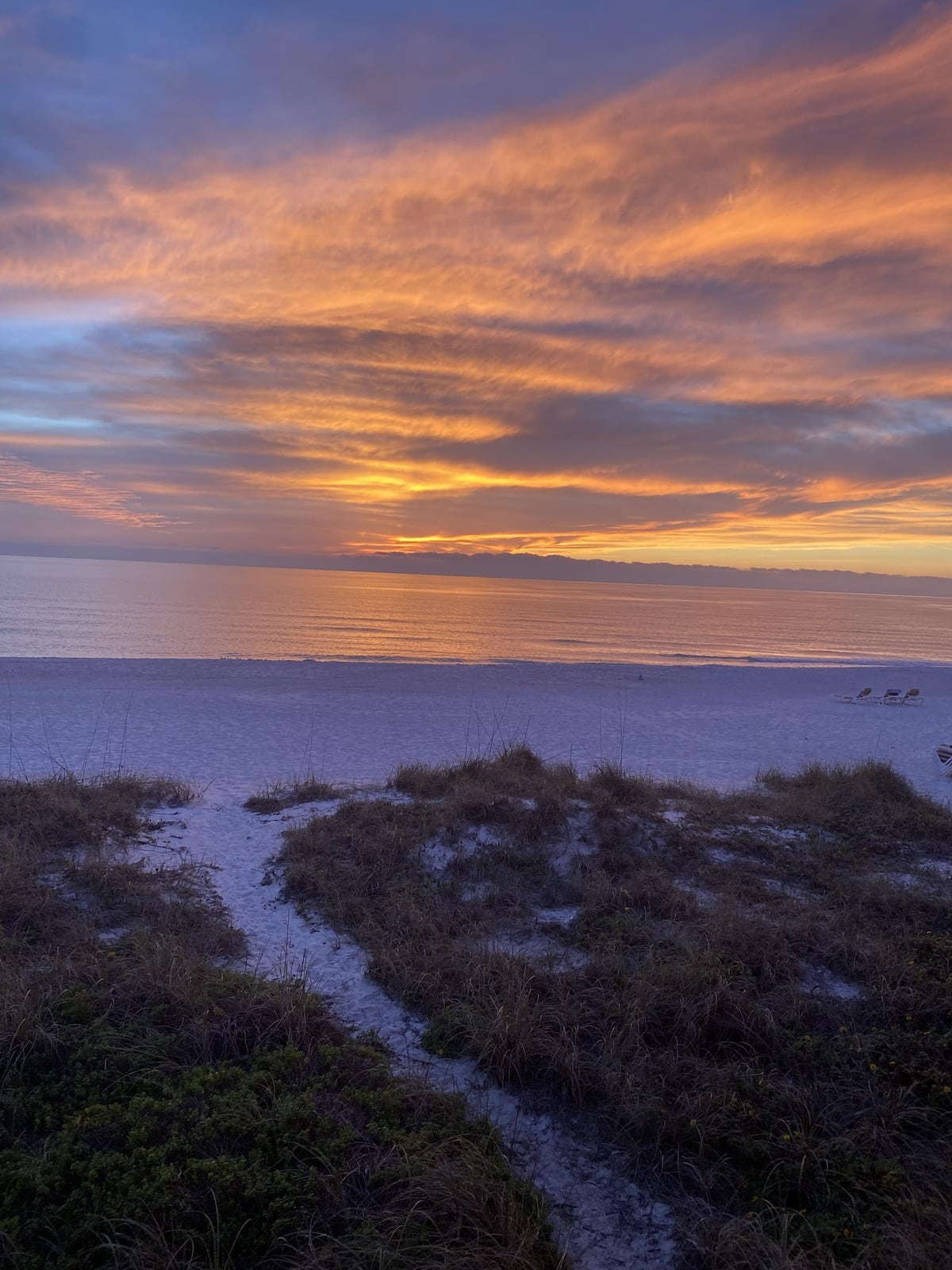Sunset at Mainsail Beach Inn Anna Maria Island Beaches.
