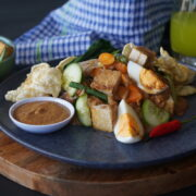 Gado Gado recipe plated.