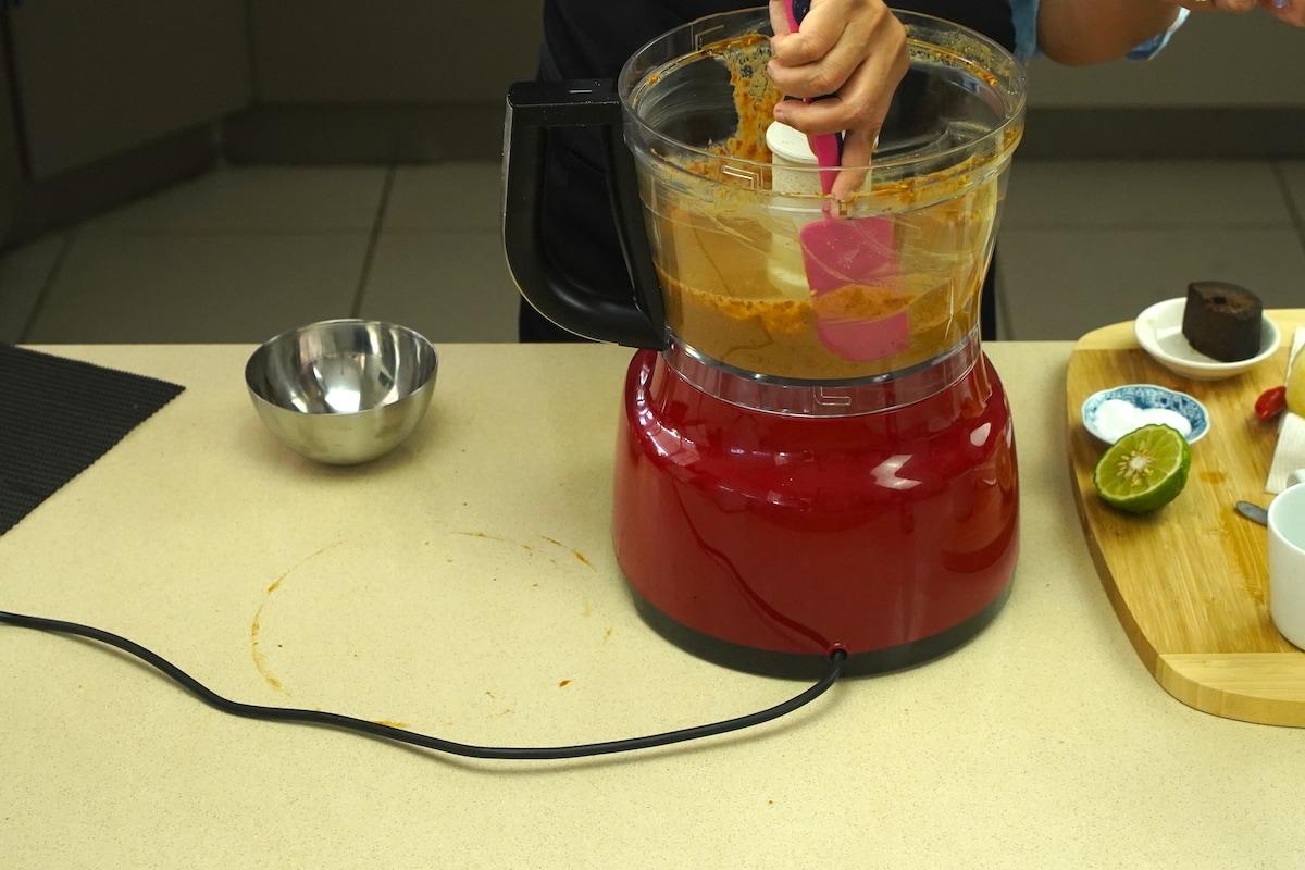 Gado Gado peanut sauce in blender.