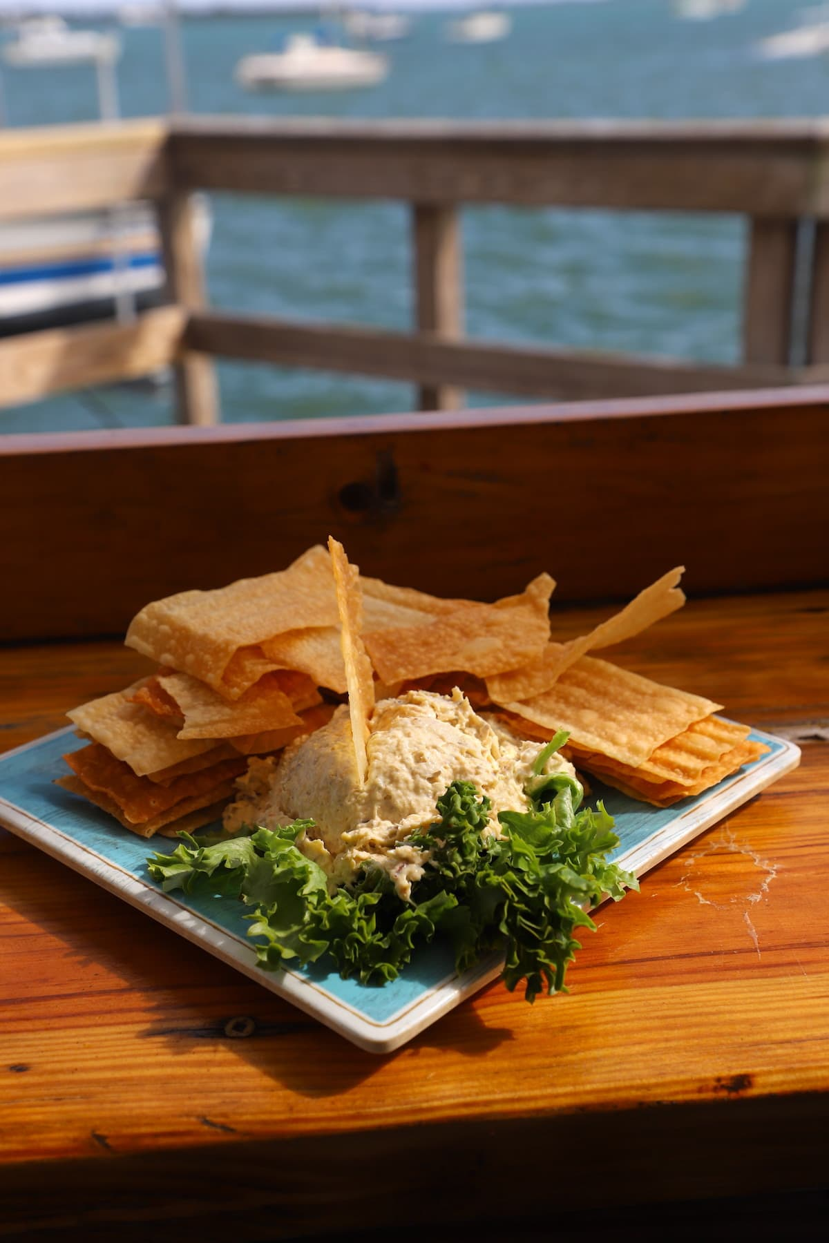 Eating the fish dip at AMI Oyster bar is one of my favorite things to do on Anna Maria Island.