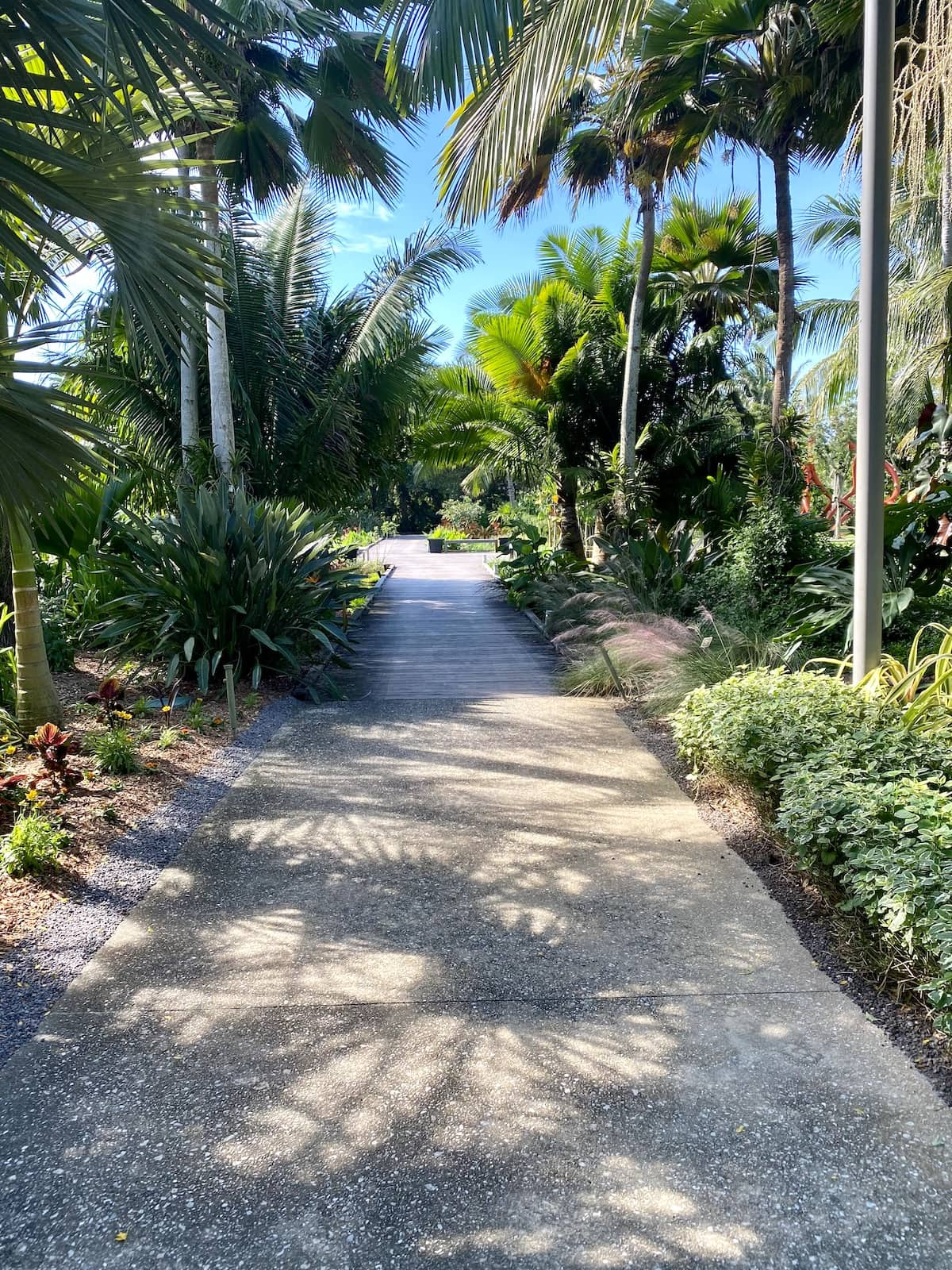 Naples Botanical Gardens walkway.