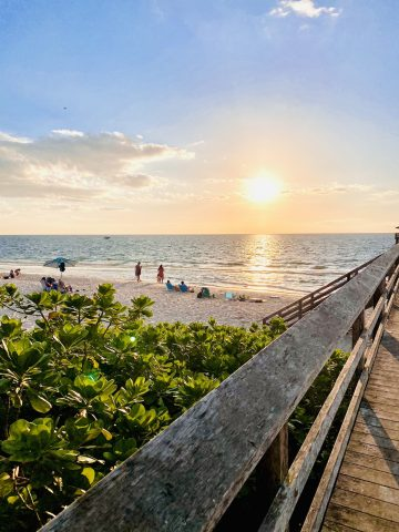 The beach is one of the best things to do in Naples Florida.