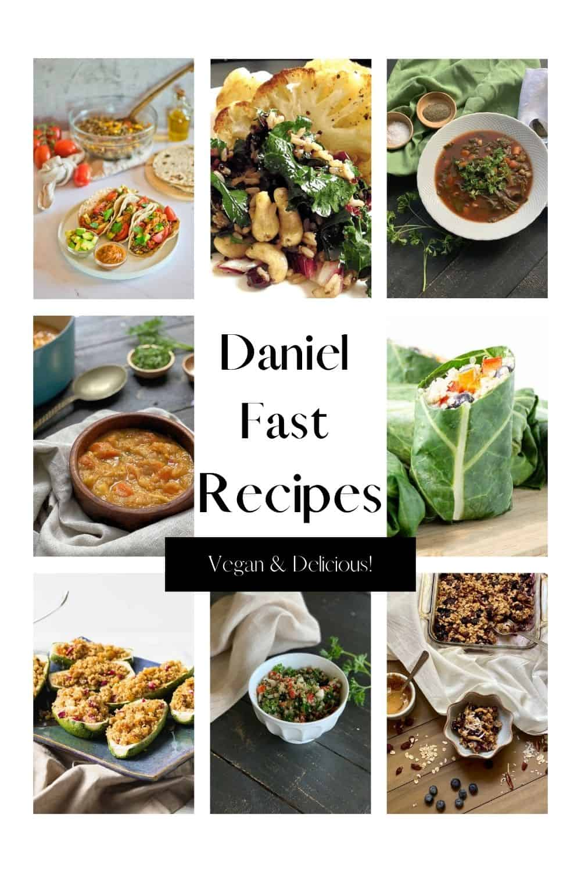 8 photos of Daniel Fast Recipes on Pinterest image.