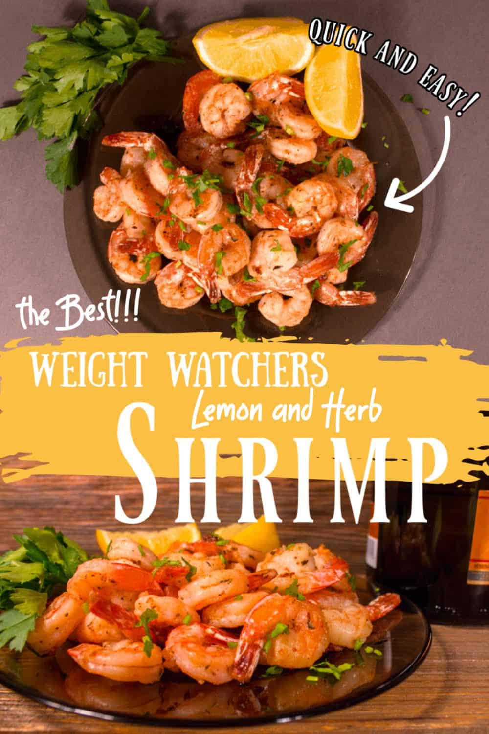 Shrimp with lemons and parsley for Pinterest.