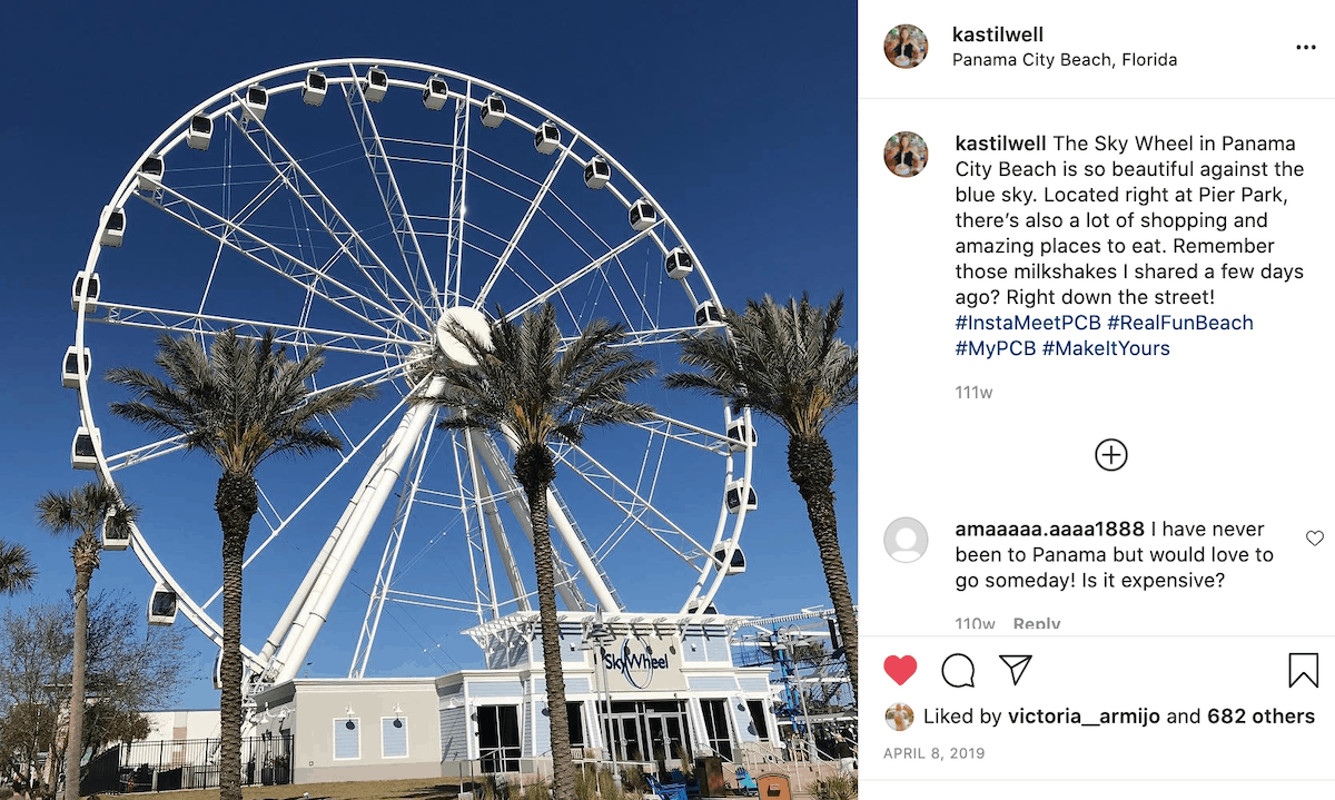 The SkyWheel at the Pier in Panama City Beach.