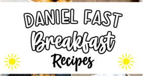 Blueberry oatmeal, omelet, pineapple oatmeal, and rice porridge on Pinterest image.