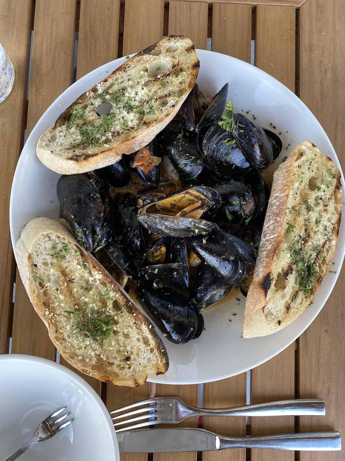 Mussels at Libby's Bradenton restaurant.