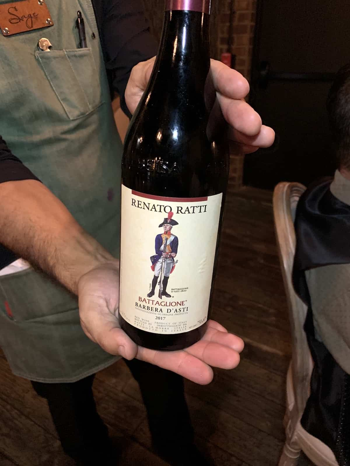 Bottle of Rnato Ratti wine.