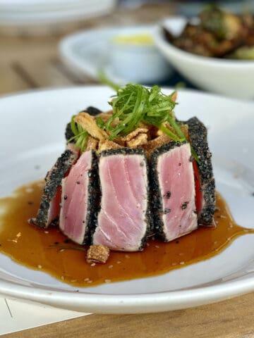 Ahi tuna at Libby's one of the best Bradenton restaurants.