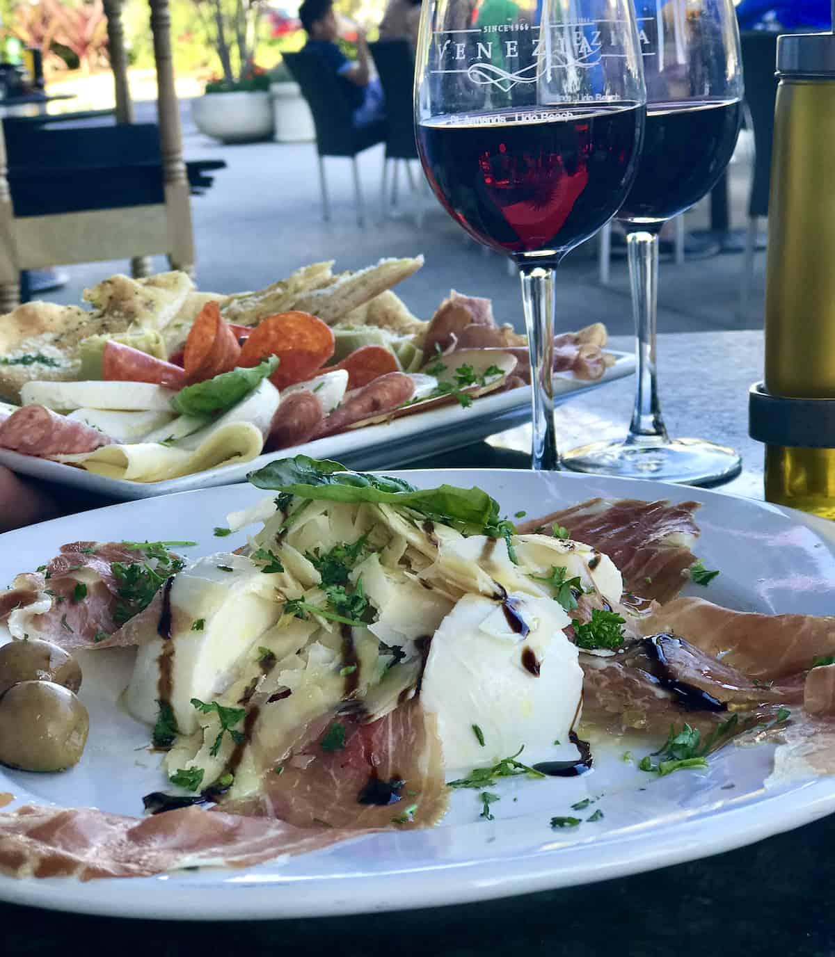 Italian appetizers at Venezio restaurant.