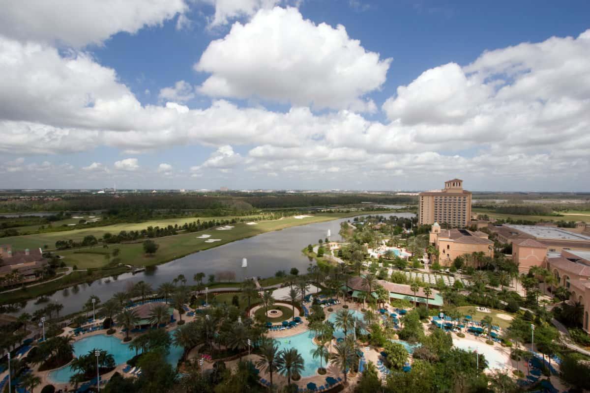 Aerial photo of Orlando Florida.