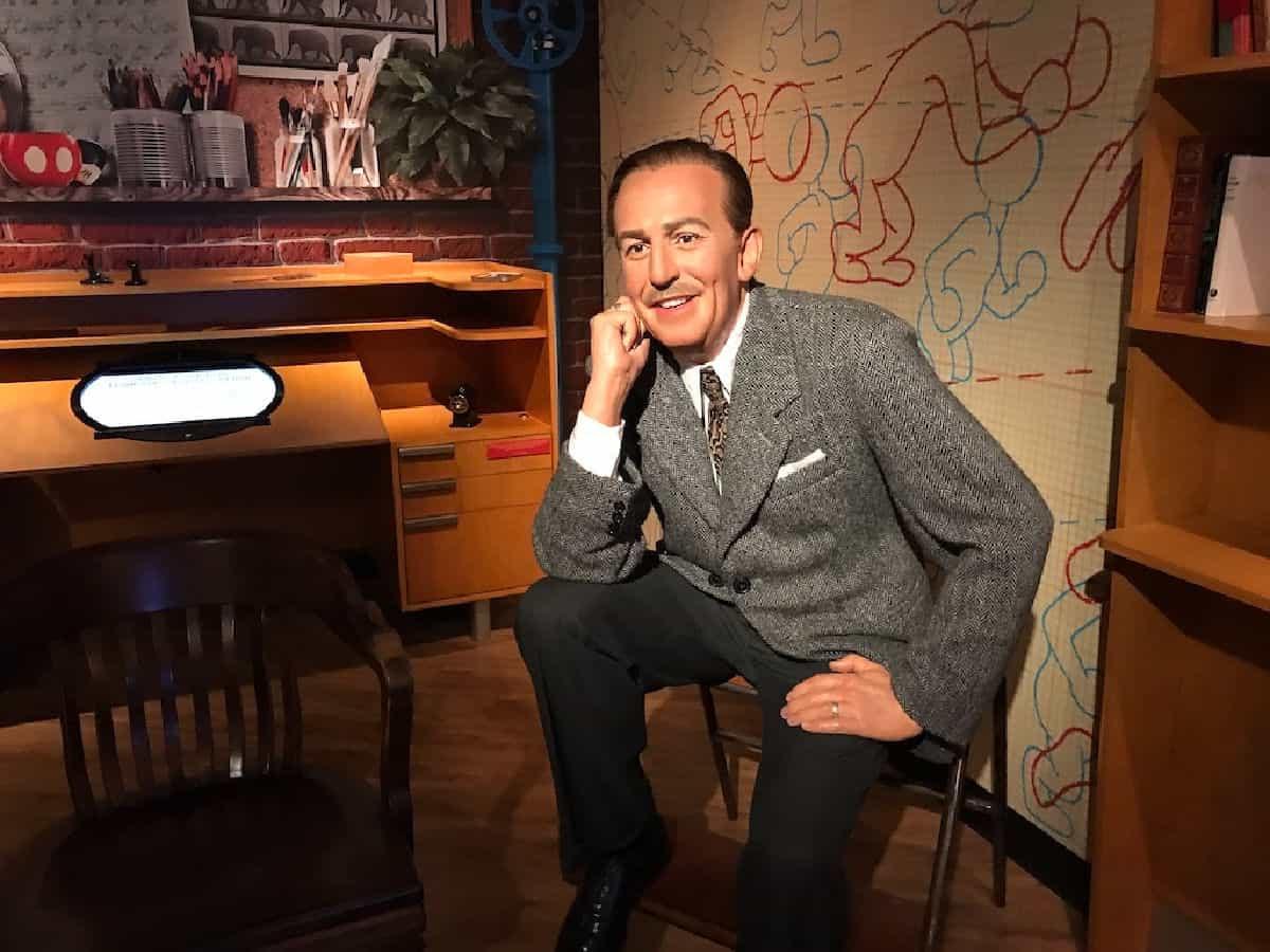 Wax sculpture of Walt Disney.